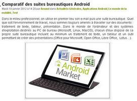 Le site du jour : Comparatif des suites bureautiques Android | Bureautique pratique | Scoop.it
