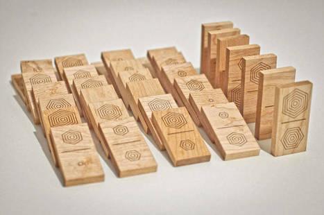 Wooden Domino Set With Hexagonal Shapes | #Design | Scoop.it