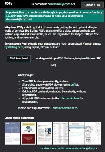 Permanently Share and Archive Any PDF Instantly for Free with PDF.yt | Web Publishing Tools | Scoop.it