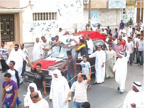 Funeral procession for the 23rd Martyr of the Revolution: Hassan Jassim Mohammed Makki | Human Rights and the Will to be free | Scoop.it