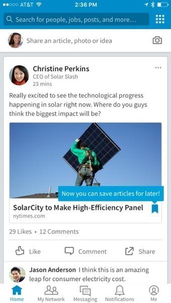 3 nouveautés LinkedIn: filtrer le flux d'actualité, sauvegarder un article, rechercher une info | Social Media Curation par Mon Habitat Web | Scoop.it