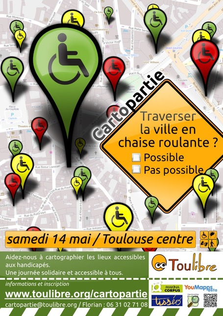 cartopartie [Toulibre] à Toulouse le 14 mai | Toulouse La Ville Rose | Scoop.it