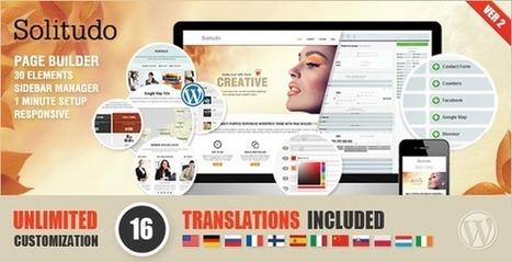 Solitudo v2.6 Page Builder & 30 Customizable Elements Wordpress | Free Themes Premium | Scoop.it