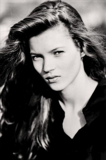 La primera sesion de fotos de Kate Moss