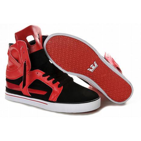 supra skytop ii red black men shoes high top | share list | Scoop.it