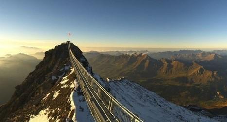 Peak Walk, un pont suisse entre deux sommets   Découvertes et voyages   Scoop.it