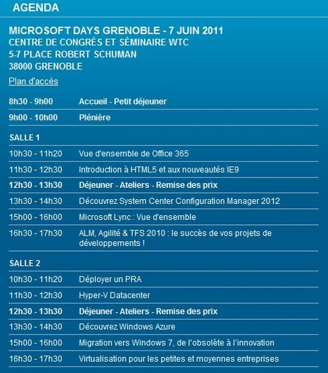 Microsoft Days 2011 à Grenoble le 7 Juin 2011!   LdS Innovation   Scoop.it