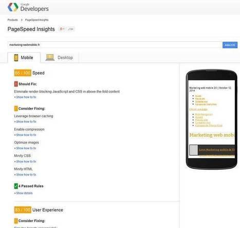 2 outils pour rendre votre site web SEO mobile friendly | Marketing web mobile 2.0 | Universelweb agence web & communication | Scoop.it