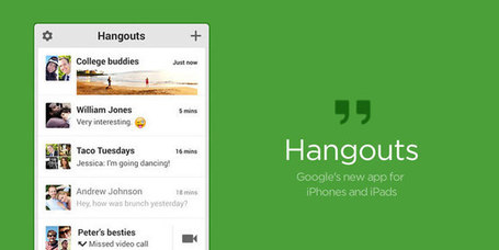 Google's Hangouts iPhone & iPad App Brings Native iOS Hangout Experience | Today's Education Technology | Scoop.it