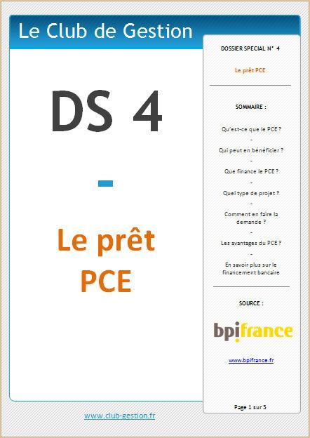 DS4 - Le prêt PCE | Le Club de Gestion | Scoop.it