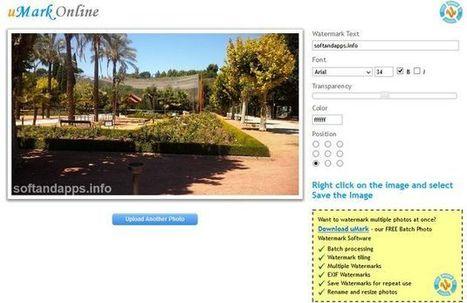 uMark Online, añade marcas de agua a tus fotos con esta utilidad web│@softapps | Herramientas digitales | Scoop.it