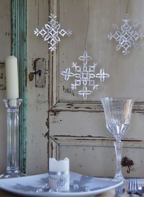 Sparkling  Snowflakes – DIY Christmas Decoration and Gift Ideas   HandMade 4All   handmade4all.com   Scoop.it