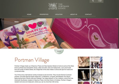 The Portman Estate, one of 'the Great Estates', a site to promote commercial opportunities and promote Portman's values and ethics | Digital Portfolio by Small Back Room | Scoop.it