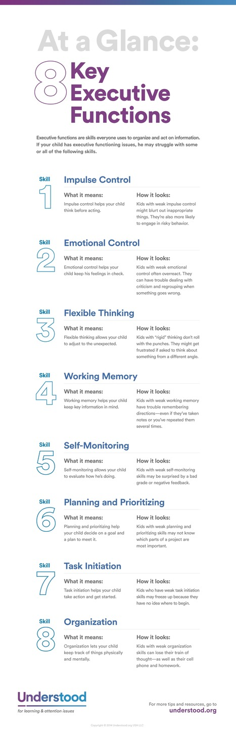 At a Glance: 8 Key Executive Functions | Educating Diverse Learners | Scoop.it