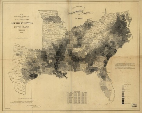 The Map That Lincoln Used to See the Reach of Slavery | Geography Education | Scoop.it