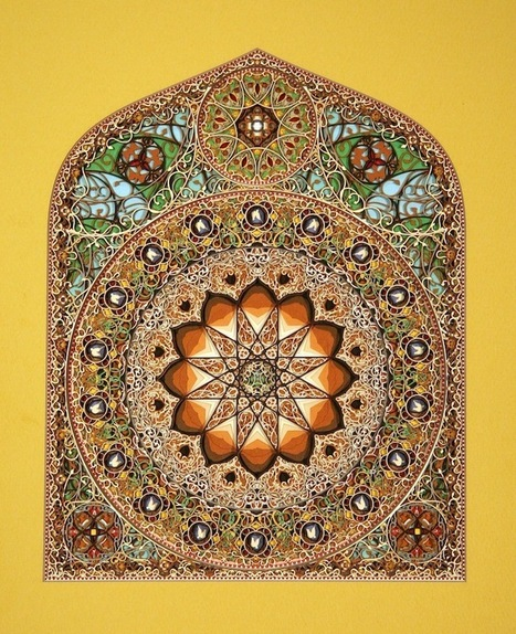 Intricately Cut Paper Sculptures Mimic Stained Glass Windows | Book Arts & Design | Scoop.it