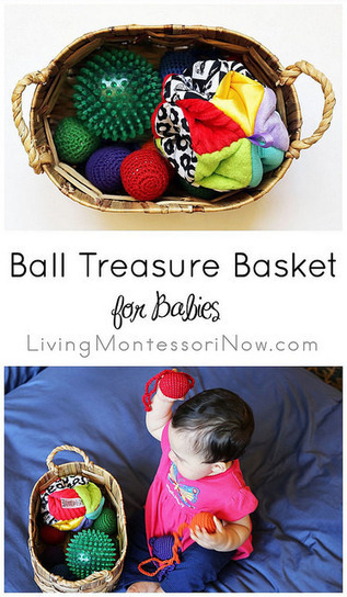 Ball Treasure Basket for Babies | Montessori Inspired | Scoop.it