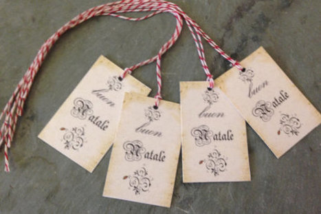 Christmas Gift Tags Buon Natale old world look hang tag for packages, gifts, homemade goodies Italy wedding rehearsal dinner party | Candy Buffet Weddings, Events, Food Station Buffets and Tea Parties | Scoop.it