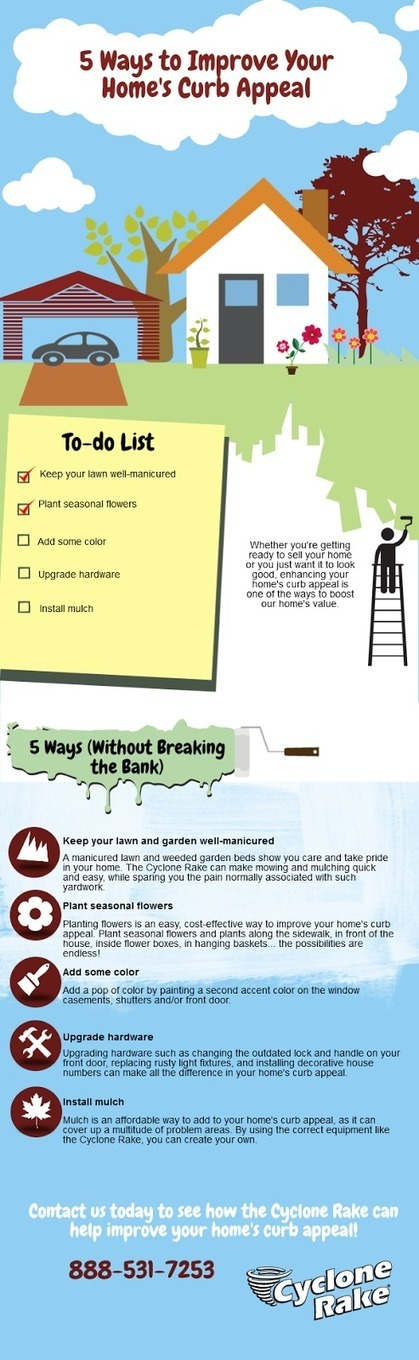Cyclone Rake: 5 Ways to Improve Your Homes Curb Appeal: An Infographic | Leaf Cleanup | Scoop.it