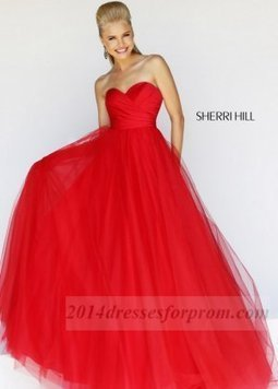 Sherri Hill 11066 Red Strapless Ball Gowns 2014 [red ball gowns] - $165.00 : Cheap Sequin Prom Dresses2014,Online Tailored Prom Dresses Shop,Homecoming Dresses Cheap | sherri hill prom dresses 2014 | Scoop.it