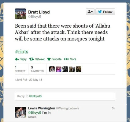 SONS OF MALCOLM: wHITE SUPREMACIST eNGLISH GENOCIDAL REACTION AGAINST MUSLIMS AFTER WOOLWICH | Saif al Islam | Scoop.it