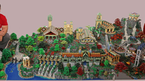 Epic LEGO Lord Of The Rings Diorama Took 200,000 Bricks To Build | Heron | Scoop.it