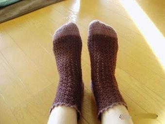 Crochet socks of Two-tone Color | WoolCrochet.com | Wool Crochet Pattern | Scoop.it