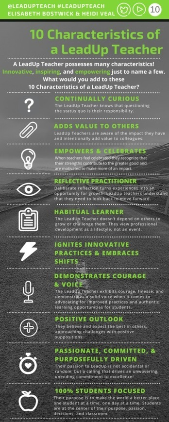 10 Characteristics of a LeadUp Teacher - LeadUpNow | Leadership With Purpose: Random Curation Of A Passionate Educator | Scoop.it