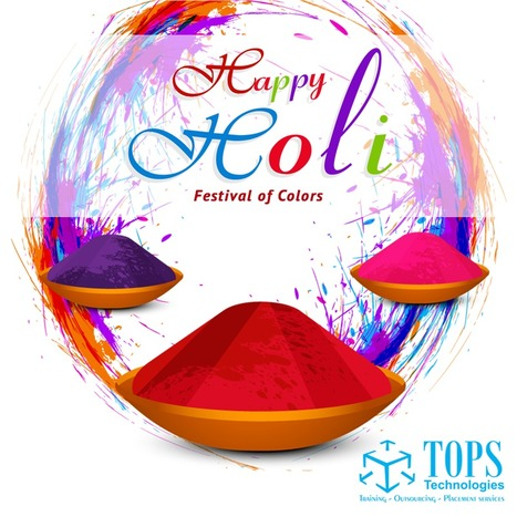Wishing you all a Happy Holi from TOPS Technologies  | IT Traininig | Scoop.it