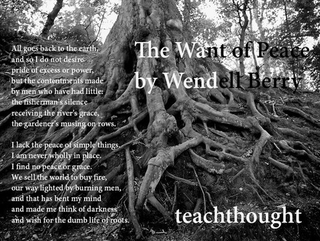 'The Want Of Peace' By Wendell Berry   TeachThought   Scoop.it