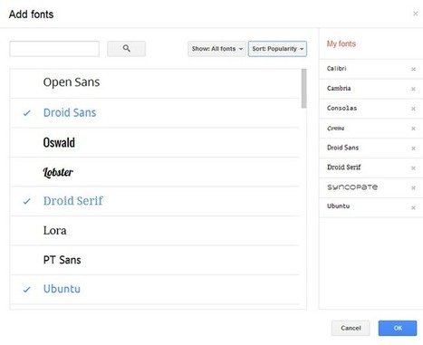 How to Add 450+ Fonts to Your Google Documents ... | Educational Technology Info | Scoop.it