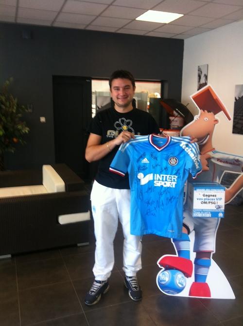 [Concours NRJ Technitoit] Yannick, gagnant du maillot dédicacé de l'OM