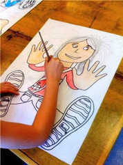 Oodles of Art: Falling back in Space Portraits! 3rd Grade | Visual and Creative Arts | Scoop.it