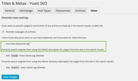 Meta Keywords: why I don't use them • Yoast | toolbox Resources | Scoop.it