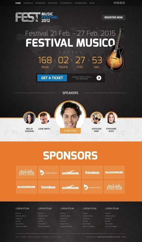Fest Joomla Template To Promote Music Events & Conferences | Premium Joomla Templates | Scoop.it