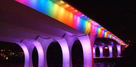 Minnesota's I-35W Bridge Lit Up Like a Rainbow For Marriage Equality | Current Events- gov & law | Scoop.it