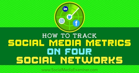 How to Track Social Media Metrics on Four Social Networks | Surviving Social Chaos | Scoop.it
