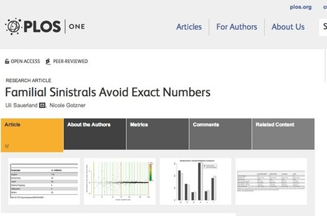 NCBI ROFL: Left-handed people avoid using exact numbers. : Discoblog | Radio Show Contents | Scoop.it