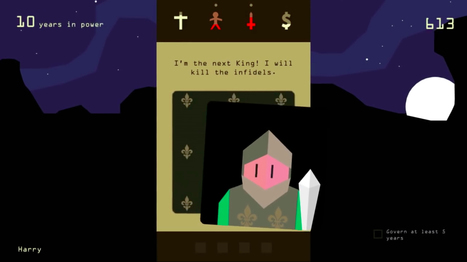 Reigns : quand Tinder rencontre Civilization, cela fait un excellent jeu - Pop culture - Numerama | Mediation Numérique | Scoop.it