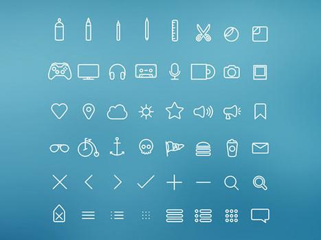 Hangloose - 50 PSD thin icons - Freebiesbug | Recursos diseño gráfico | Scoop.it
