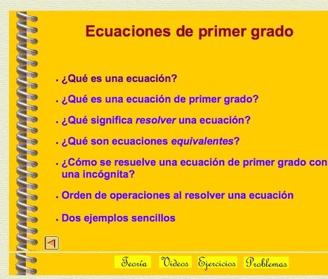 Ecuaciones de primer grado | MatemáTICas en Secundaria | Scoop.it