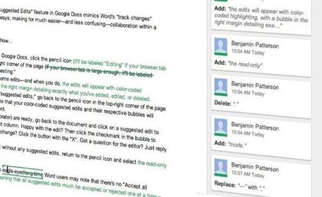 """Google Docs tip: Track changes with new """"Suggested Edits"""" feature   here's the thing   Matt's Ed Tech   Scoop.it"""