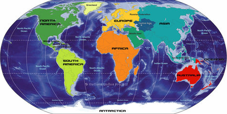 Big Map of Continents of the World - Nations Online Project | Year 2 Geography: Where is Asia? | Scoop.it