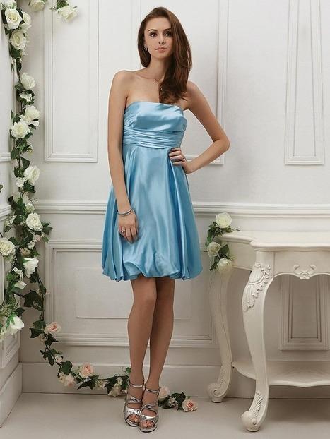 Empire Strapless Satin Short/Mini Sleeveless Pleats Party Dresses at sweetquinceaneradress.com | SWEET 16 DRESSES | Scoop.it
