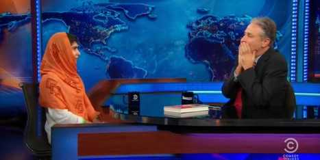 16-Year-Old Malala Yousafzai Leaves Jon Stewart Speechless With Comment About Pacifism | Community Village Daily | Scoop.it