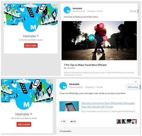 Small Google+ Design Change Looks More Like Facebook   MarketingHits   Scoop.it
