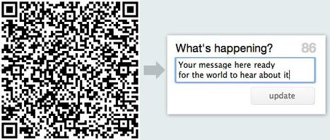 Using QR codes to update Twitter | alles voor de mediacoach | Scoop.it