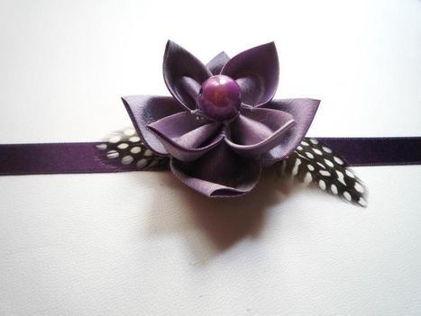Galerie des créations | Collier ras de cou avec fleur en taffetas par kiff-et-wak | Loisirs créatifs, DIY & activités manuelles | Scoop.it