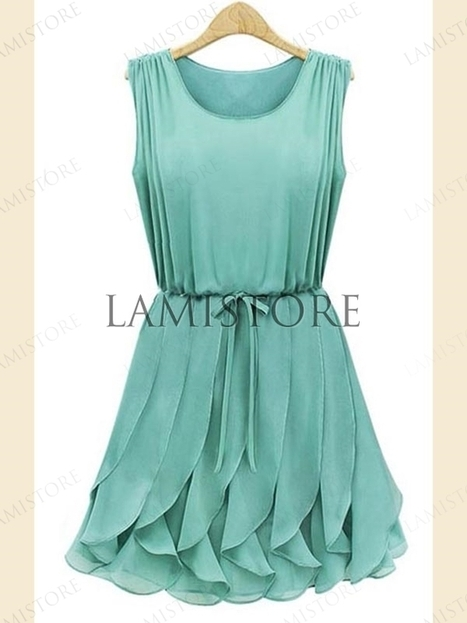 Fashion Design Waisted Flouncing Chiffon Day Dresses : Lamistore.com | Lamistore Fashion Prom Dresses | Scoop.it