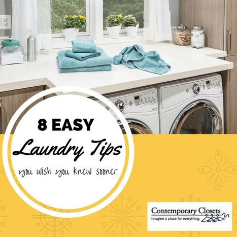 8 EASY Laundry Hacks – Cleaning Tips and Laundry Closet Organizer Ideas  - Contemporary Closets | All Things New Jersey | Scoop.it